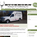Buckhorn Heating and Air Conditioning Website Design