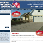 Cheyenne Concrete Specialists Website Design
