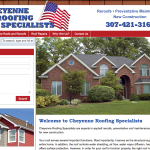 Cheyenne Roofing Specialists Website Design