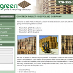Go Green Pallet Company Website Design