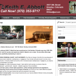 Keith E. Abbott Law Website Design