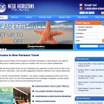 New Horizons Travel Website Design